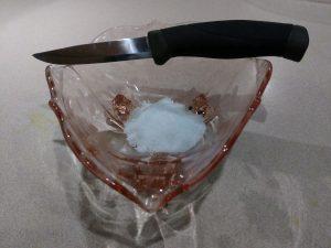 Sea salt and knife